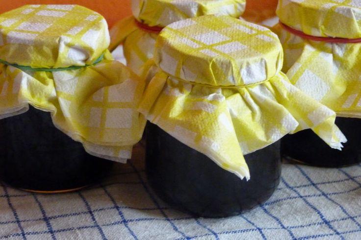 czekoladowo: Konfitura z owoców czarnego bzu