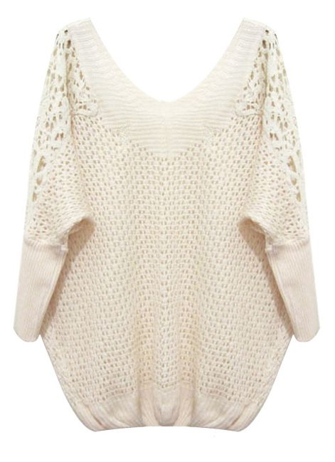 Lace Shoulders Sweater