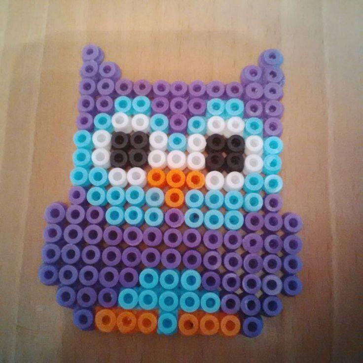 Owl hama perler beads by Karla-Jade-2015