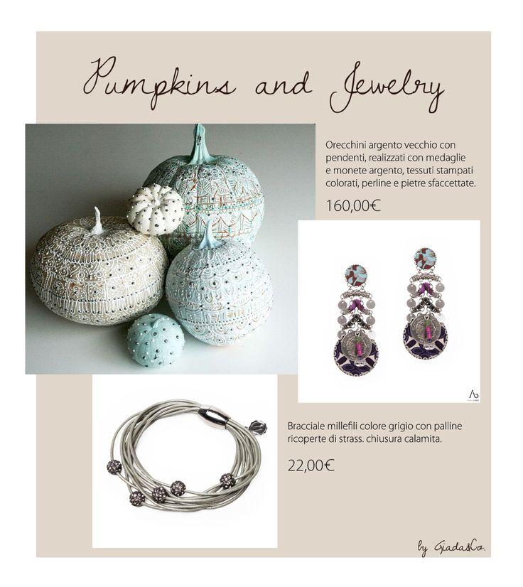 Pumpkins and Jewelry!! #Bracelets #Earrings  #Ayalabar BRACCIALE http://www.giadaandco.com/bracciali/bracciale-millefili-grigio-strass-chiusura-calamita ORECCHINI http://www.giadaandco.com/designer-collection/ayala-bar/orecchini-hip-5-a-i-argento-vecchio-monete