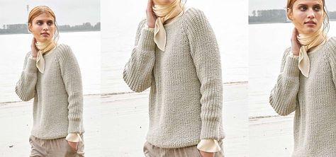 Der wunderschöne und kuschelige Raglan-Pullover ist das Herzstück eines Herbst-Outfits. Dank dem einfachen und klassisch-schönen Patentmuster ist der schicke Pullover aus Cashmere im Nu gestrickt und hält Dich bei den Herbsttemperaturen warm.