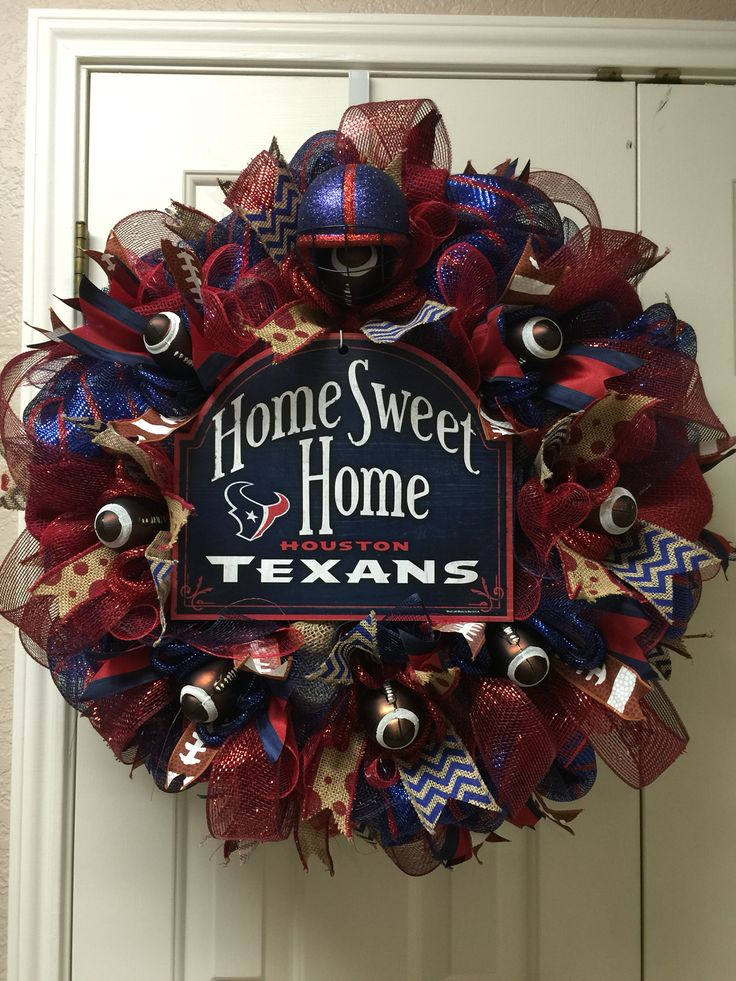Houston Texans wreath by Twentycoats Wreath Creations