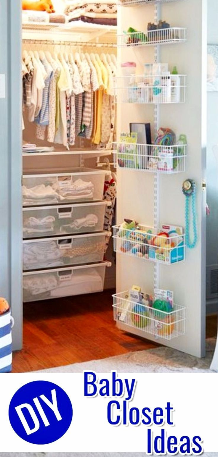 Pinterest Diy Home Projects To Try Issue 1024 Clever Diy Ideas Baby Room Storage Baby Closet Organization Baby Closet