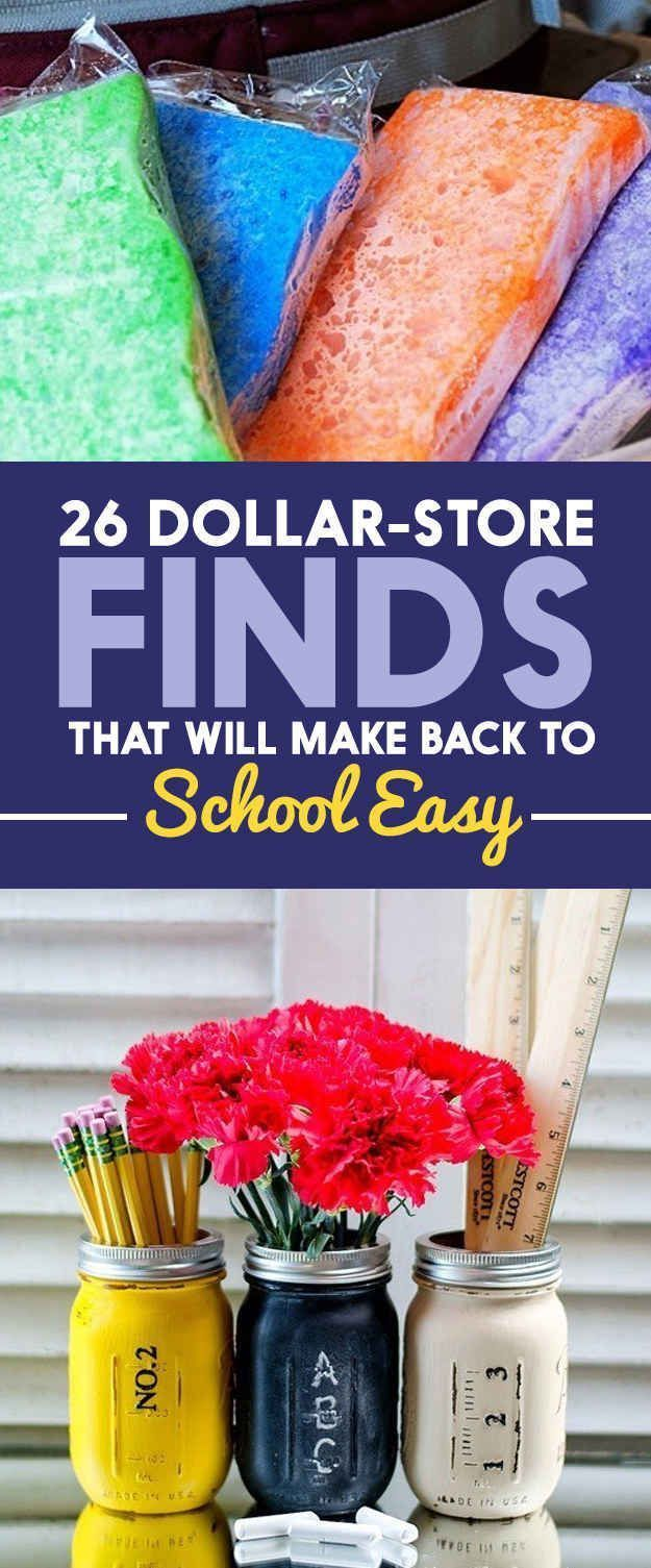 26 Dollar-Store Finds That Will Make Back To School Easy - Great ideas here!