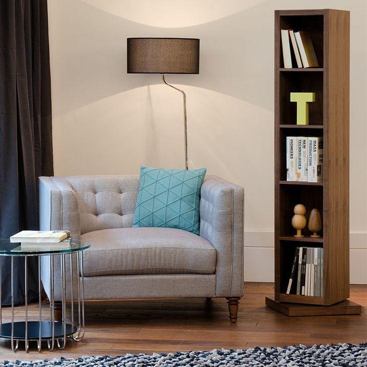 На заказ мебелью грецкий орех книжный шкаф новый современный минималистский дизайн поворотный тела этаж зеркало купить на AliExpress