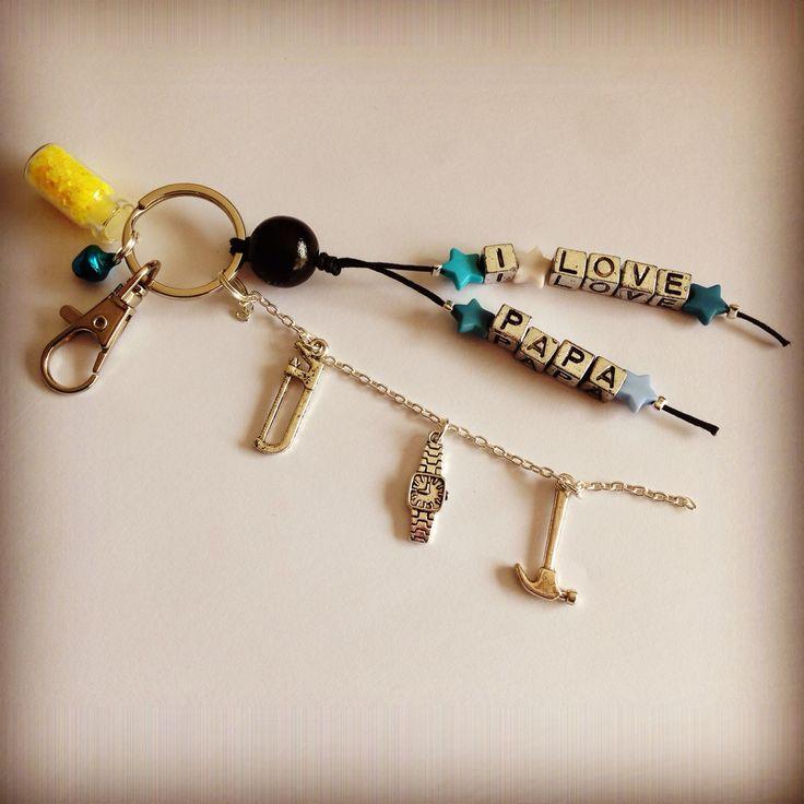 Porte-clés I Love papa
