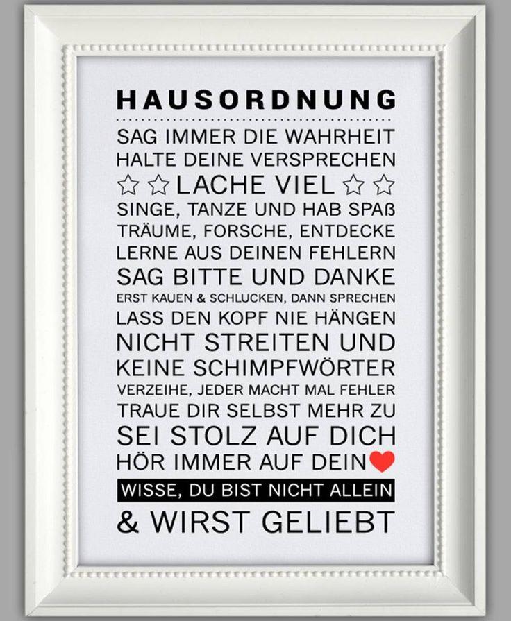 "Smart Art ★ Kunstdruck ""Hausordnung"""