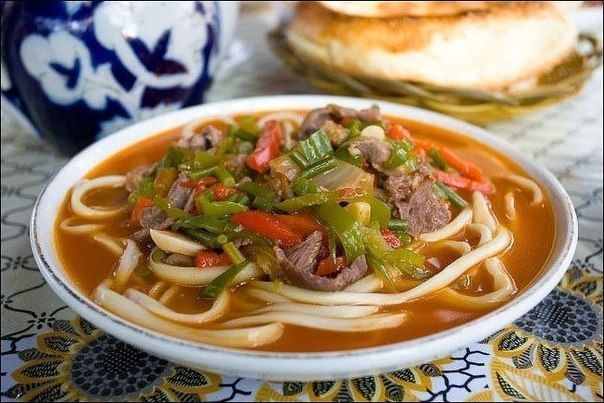 http://chief-cooker.tumblr.com Lagman - Uzbek thick soup easy to make delicious dish Ingredients: Beef or lamb - 0,5 kg. Thin long noodles or spaghetti - 0,5 kg. Onion - two pieces Carrots - two...