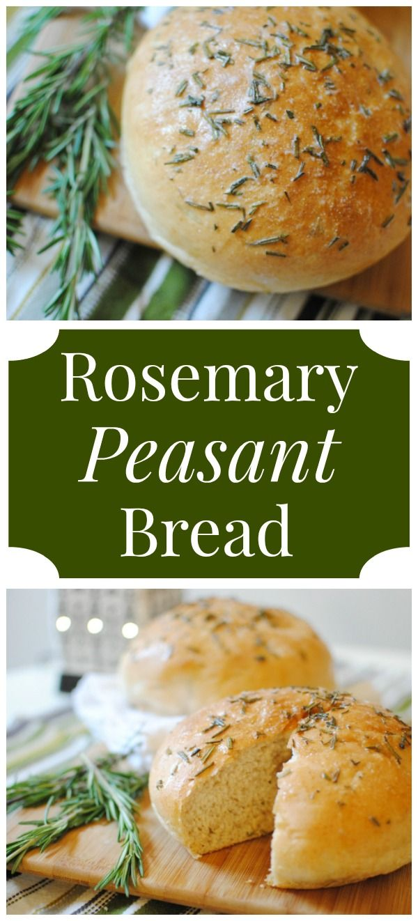 Rosemary Peasant Bread Recipe - we ADORE this bread! It's amazing! Perfect in the fall with a bowl of soup. | Feathers in Our Nest