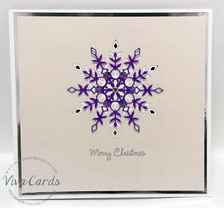Handmade Card - Snowflake 2  #Silver, #Diamantes, #Snowflakes, #SimonSaysStamp, #Elise