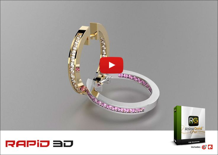 The most advanced tools create custom jewellery. With the ease of Elements make RhinoGold 6, it's the right choice for any jewellery professional. Watch this step-by-step video showing the design of a pair of hoop earrings in RhinoGold. http://www.rapid3d.co.za/rhinogold-6-free-tutorial-make-hoop-earrings/?utm_campaign=coschedule&utm_source=pinterest&utm_medium=Rapid%203D&utm_content=RhinoGold%206%20Free%20Tutorial%20-%20how%20to%20make%20hoop%20earrings%2E #rhinogoldpro #rapid3d…