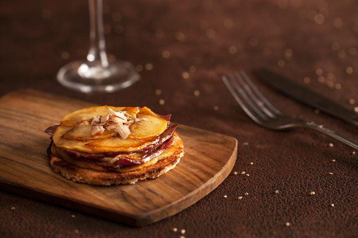Tatin de magret de canard et pommes, copeaux de foie gras mon dieu!!!!!!!