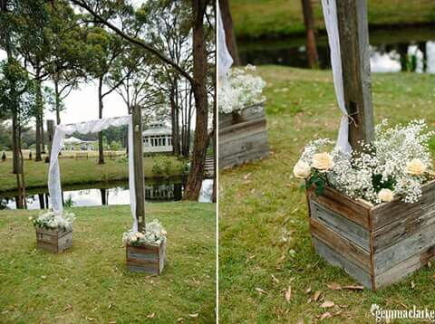 Rustic recycled timber arbour. Fill it with baby's breath and peach roses #queenstvintage #rusticprops #rusticweddings #recycledtimber #prophiresydney #vintageideas #rusticsigns #rusticdrinkstations #rusticsweettables #vintageweddings #rusticwishingwells #timberweddingsigns #drinkstations #photobooth #tablecentrepieces #caketables