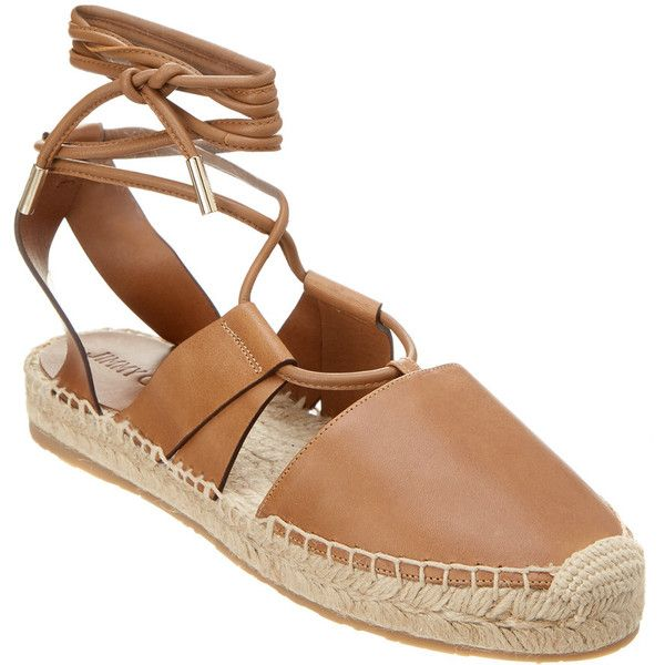 Jimmy Choo Darby Leather Lace-Up Espadrille (982.645 COP) ❤ liked on Polyvore featuring shoes, sandals, brown, rubber sole shoes, brown shoes, traction shoes, brown espadrilles and grip shoes