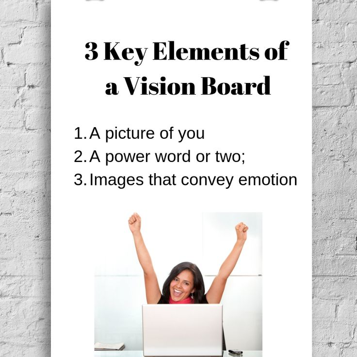 3 Key Elements Of Vision Boards