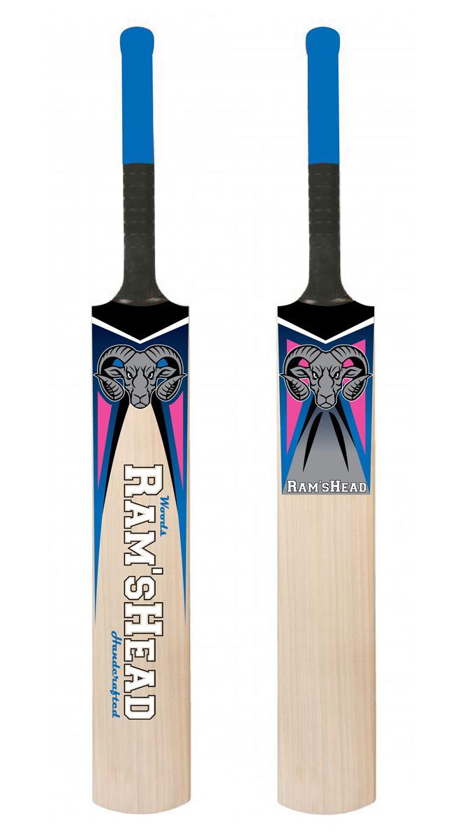 Sticker Design by Pinky for Handcrafted Cricket Bat business #cricket #logo #design #DesignCrowd #sport