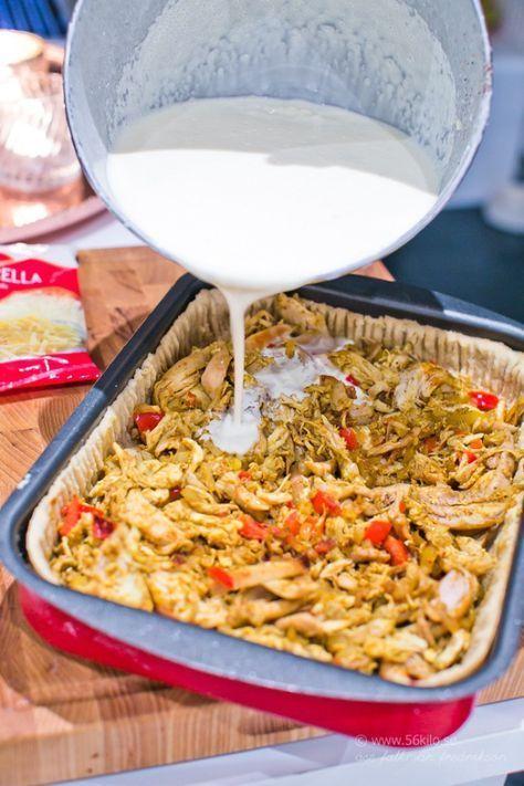 Jag älskar paj och jag älskar kyckling och jag älskar curry! Då är detta perfekt! ;) Eftersom vi är så många i vår familj så gör jag ofta pajen i långpanna, som HÄR och HÄR. Detta blev sååååå gott så prova detta hörni! Relaterade
