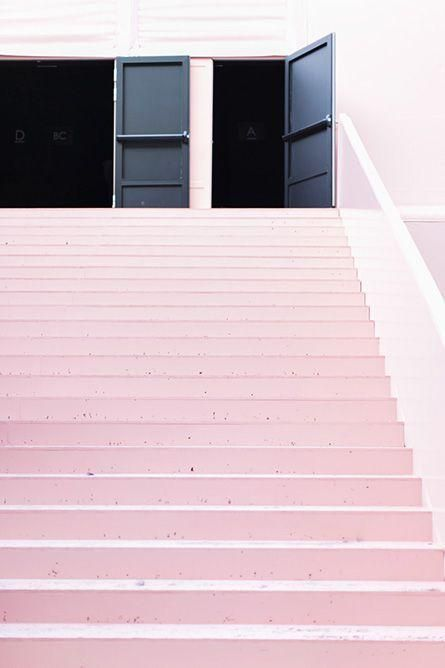 Pink staircase.