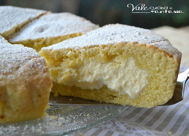 Crostata con crema di ricotta limone e mascarpone, golosa delicata e profumata…