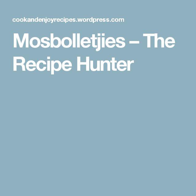 Mosbolletjies – The Recipe Hunter