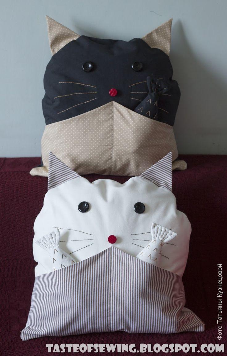 A taste of sewing: Пристраиваю кота