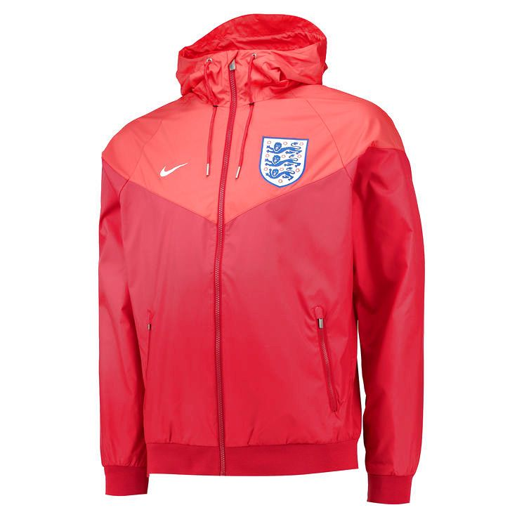 England National Team Nike Authentic Windrunner Jacket - Red - $63.99