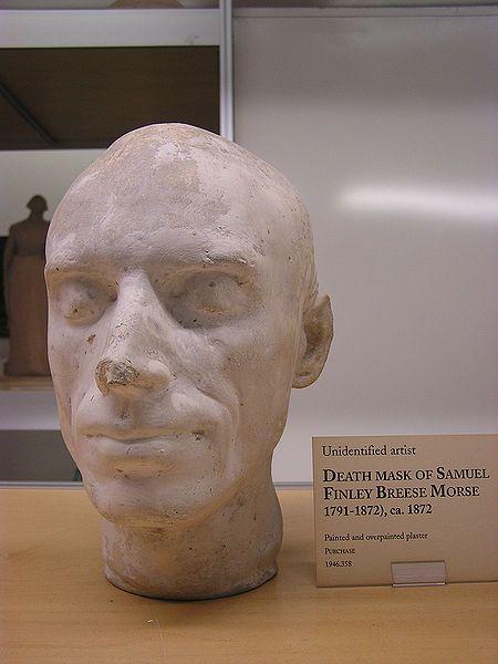 Death mask of Samuel F. B. Morse, 1872. Painted plaster. New-York Historical Society,