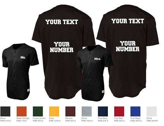 Mr. and Mrs. Custom Baseball Jersey Number Style Couples Jersey Shirts Sport-Tek® PosiCharge™ Tough Mesh Full-Button Jersey St220