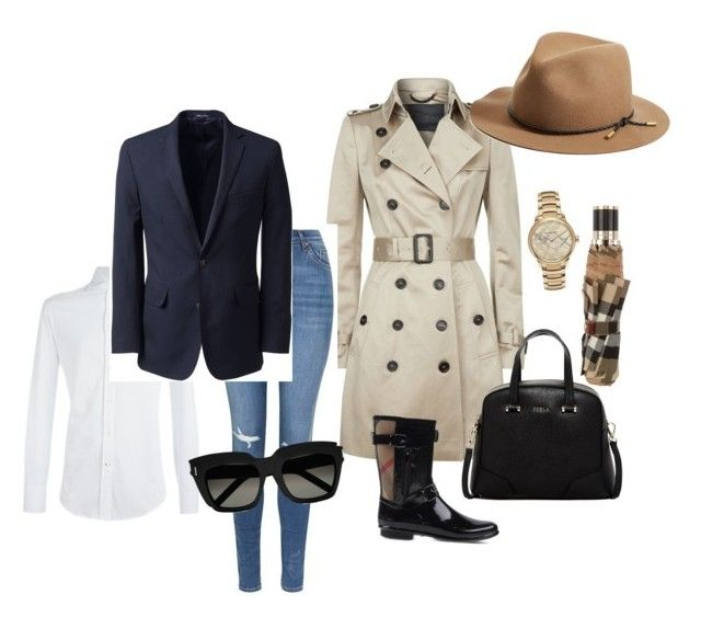 """""""Untitled #4"""" by inger-malmgaard-petersen on Polyvore featuring Burberry, Furla, Topshop, Brunello Cucinelli, Yves Saint Laurent, Lands' End and rag & bone"""