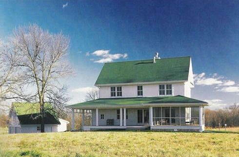 Field of dreams evokes 19th century midwest prairie for Farmhouse building plans photos