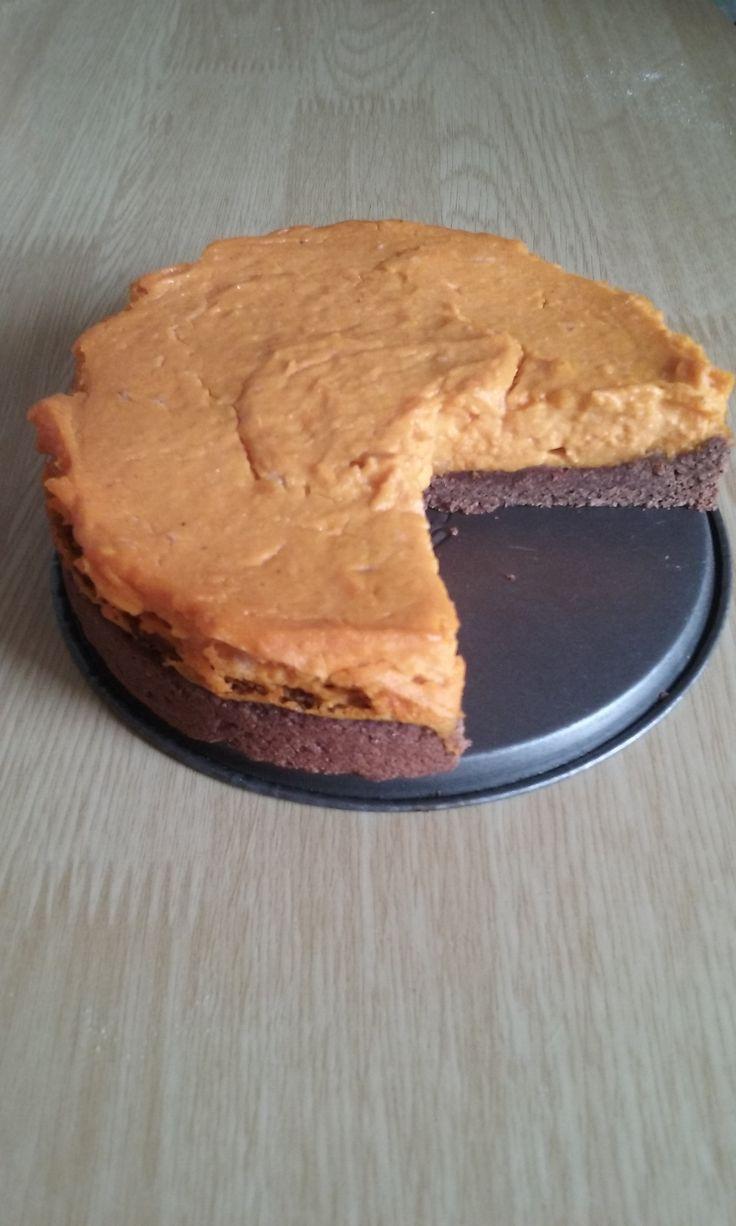 Cheesecake potimarron chocolat...inspiré de Peaceful cuisine