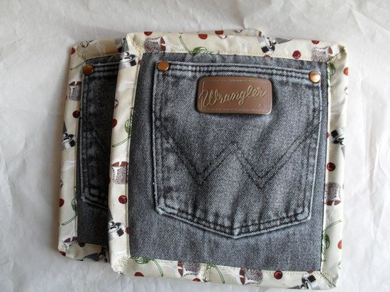 new nike boots for women Who knew you could make pot holders look so cute from up-cycled denim –– 18 Ideas For Upcycling Denim