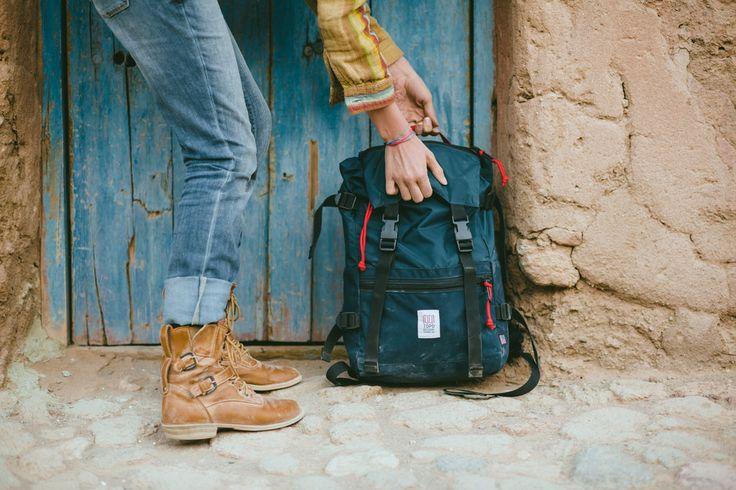 topo-designs:  The Rover Pack taking a streetside break in Bolivia with @candymountaincollective