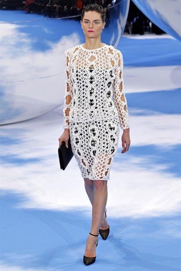 Утончённое вязание от Christian Dior