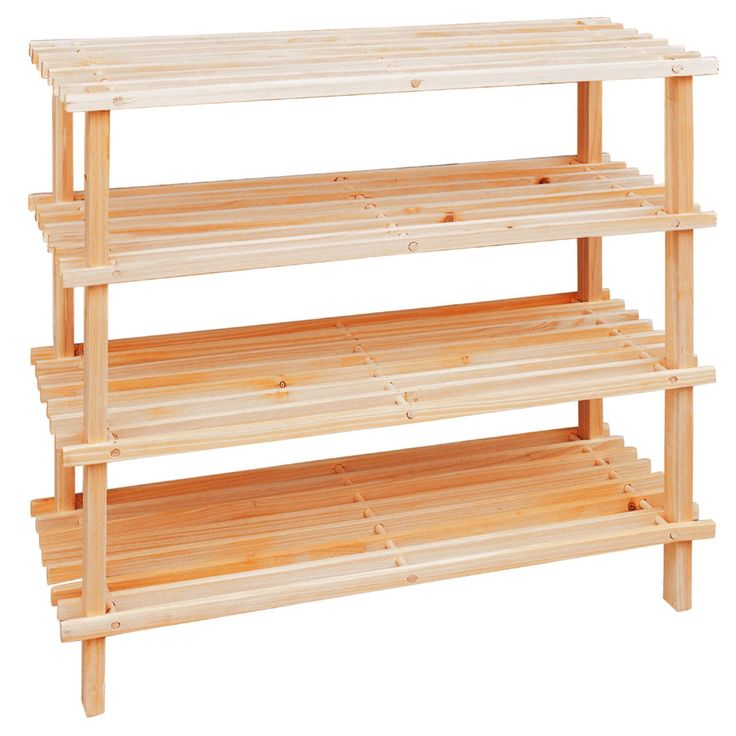 4 tier wooden shoe stand organiser storage rack shelf unit shelves bookcase in home furniture u0026 diy storage solutions shoe storage