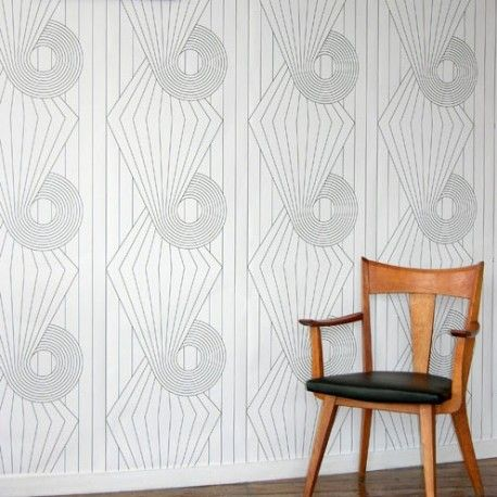 Spiral Wallpaper available to buy online. A White Contemporary from Erica Wakerly at best online price. Order today for quick delivery.