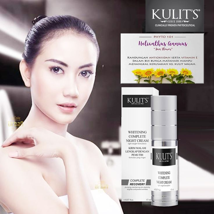 Kulit's Whitening Complete Night Cream - 17 ml - Krim malam hari anti pigmentasi dan anti aging. Menjaga elastisitas kulit, mencerahkan dan mencegah keriput - Line: @urbandepo WA: 0811890101 #beauty #cantik #kulits #skincare #antiaging #awetmuda #stayyoung #youngerskin #Smoothskin #kulithalus #BPOMApproved #QualityControlled #ClinicallyProvenPhytoceuticals #kulit's #kulitsskincare #kulitsehat #nomercury #naturalingridients #naturalskincare