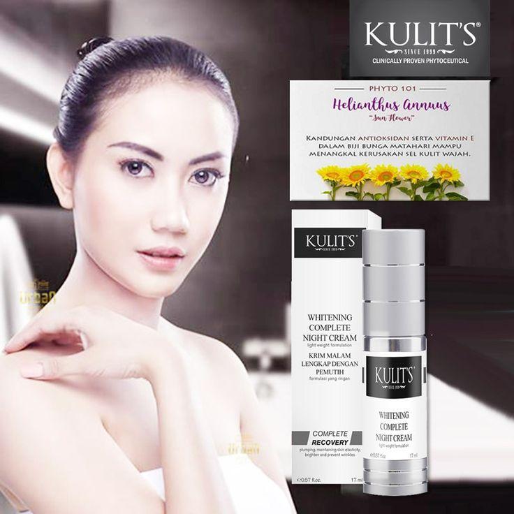 Kulit's Whitening Complete Night Cream - 17 ml - Krim malam hari anti pigmentasi dan anti aging. Menjaga elastisitas kulit, mencerahkan dan mencegah keriput - Line: @urbandepo WA: 0811890101 #beauty #cantik #kulits #skincare #antiaging #awetmuda #stayyoung #youngerskin #Smoothskin #kulithalus #BPOMApproved #QualityControlled #ClinicallyProvenPhytoceuticals #kulit's #kulitsskincare #kulitsehat #nomercury #naturalingridients #naturalskincare