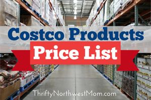Costco Products Price List - Find Prices for over 1000 Items to compare to Stores! - Thrifty NW Mom