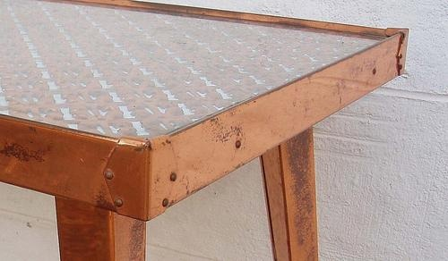 Copper Table Top Edging Furniture Pinterest Tops 400 x 300