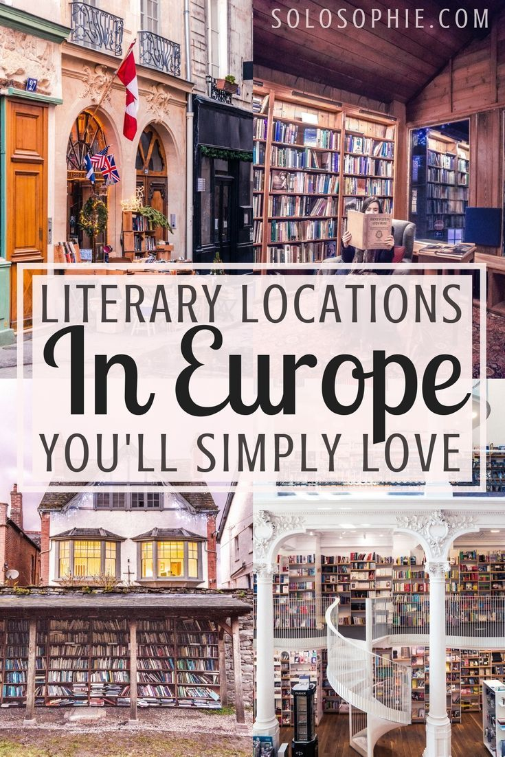 Literary Locations in Europe Every Bibliophile Must Visit Once! Book capitals, cities and ancient towns dedicated to tomes, volumes, and plenty of other book-related festivals.