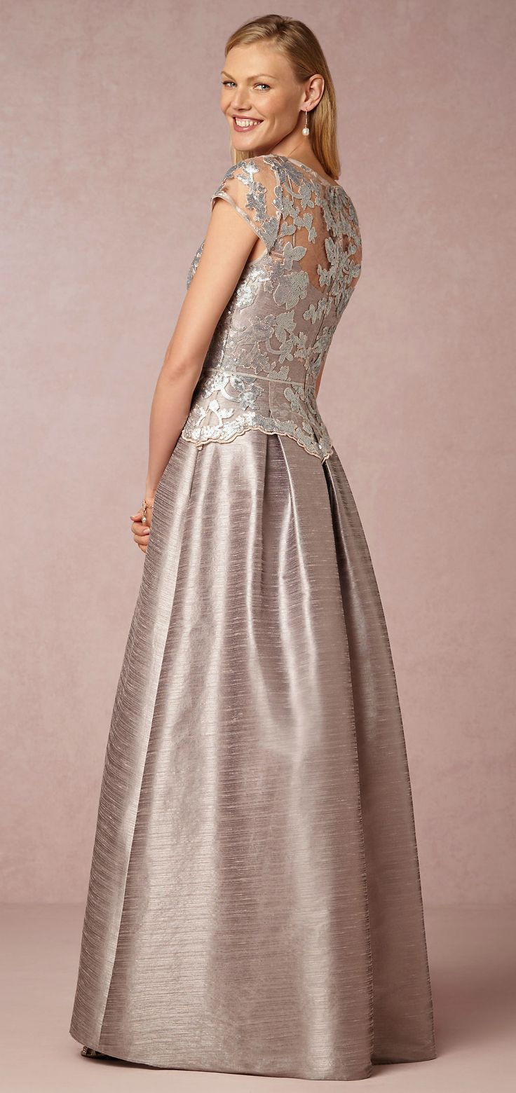 35 best silver mother of the bride dresses images on for Silver beaded wedding dress