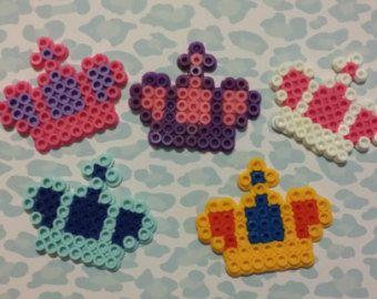 Perler Princess crown hair clips