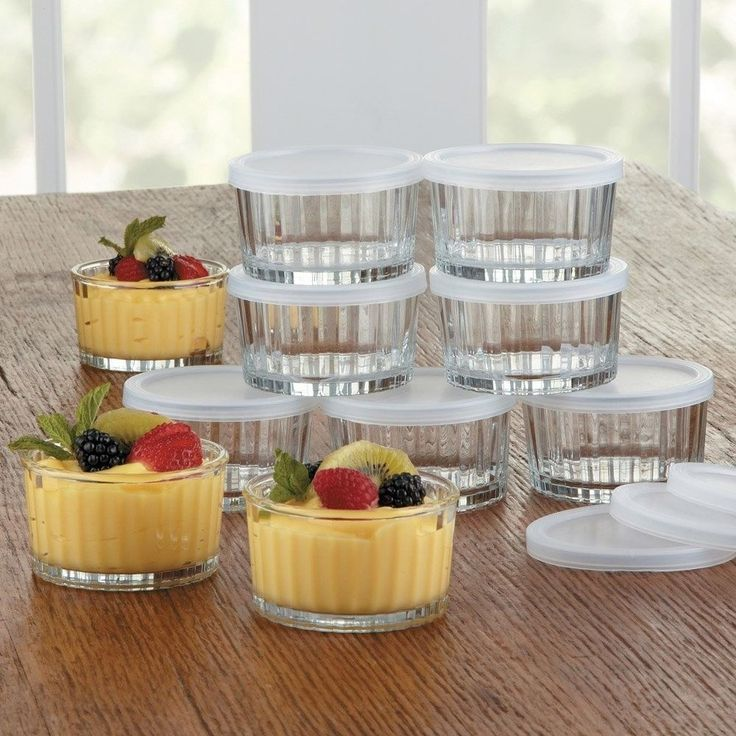 Baking Glass Ramekin W/Lid Small 20pc Food Storage Dessert