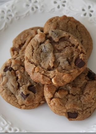 Chewy Peanut Butter Chocolate Chunk Cookie Recipe-use Wilbur Buds for the chocolate chunks!