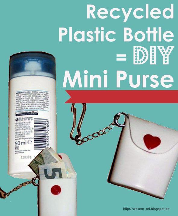 Recycle a Shampoo Bottle into a Mini Bag :: Fun Tutorial