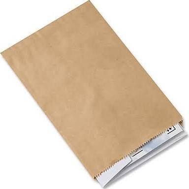 small brown paper bags - save the date