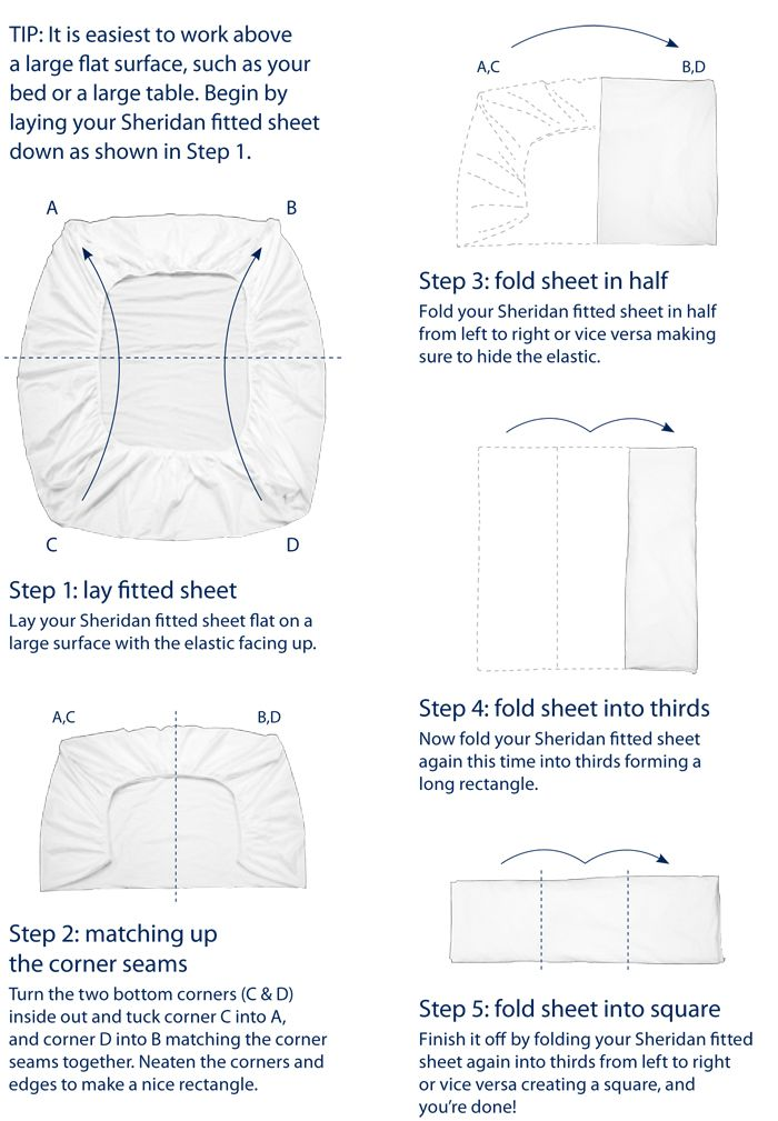 Sheridan Website How To Fold A Ed Sheet