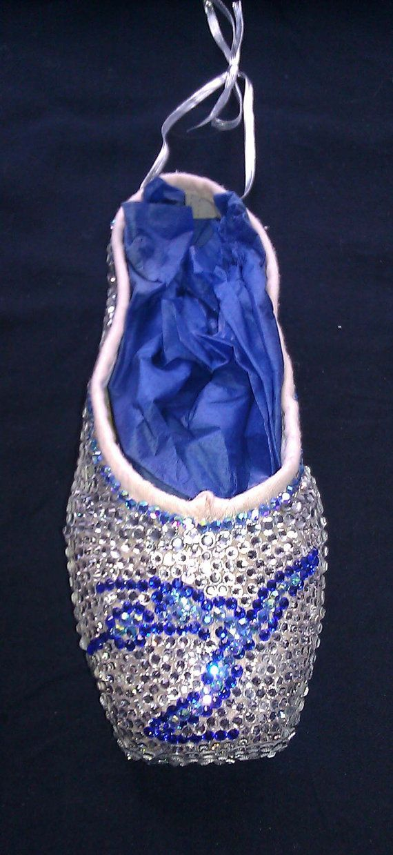 These rhinestone pointe shoes are cute, but impractical. You can't dance on the toe if it's covered in rhinestones.