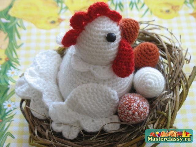 Pollo de Pascua - gallina.  Clase Magistral sobre crochet